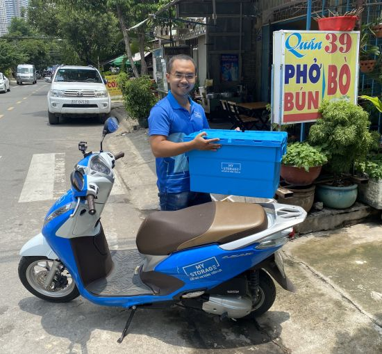 A valet-storage delivery driver for MyStorage, the only self-storage business in Ho Chi Minh, Vietnam