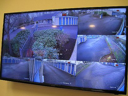 Security monitors at Vault Stor & Lock in Eugene, Ore.jpg