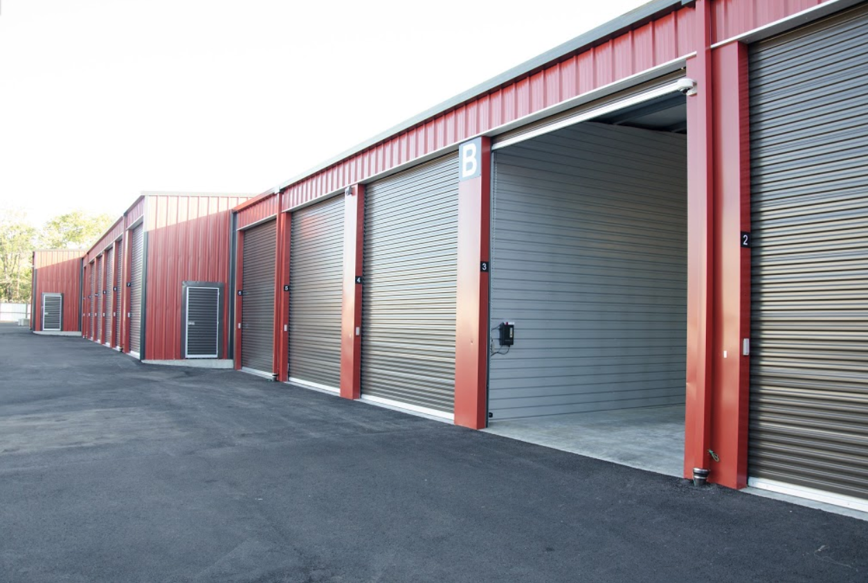 Enclosed boat/RV storage at Sentinel Self-Storage in Sherwood, Ore.