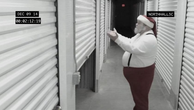 Santa Caught on Storage Security Video