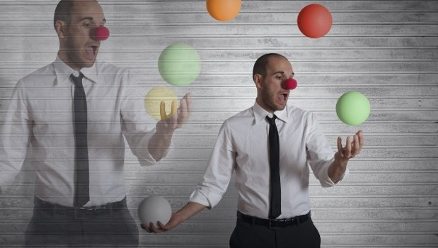 Juggle Clown Businessperson