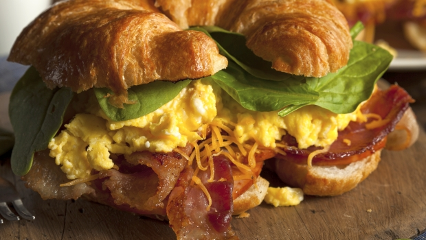 Bacon Egg Cheese Croissant Sandwich