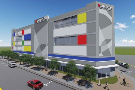 Rendering of the Miami City Self Storage facility planned for 1100 N.E. 79th St. in Miami, Fla.***