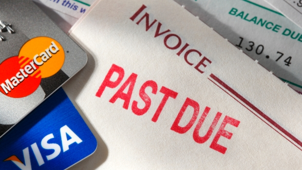Past-Due Credit Card Invoice