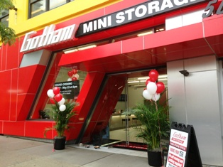 The entry to Gotham Mini Storage, which is on 10th Ave.