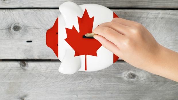 Canada Piggy Bank Flag Economy