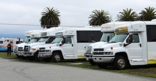 Vehicles at Island Park Storage include tour buses, shuttles, limos, RVs, cars and more.