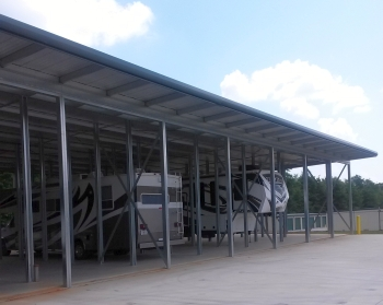 An example of open-canopy storage at All About Storage in Villa Rica, Ga.