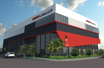 A rendering of the new Sentry Self Storage in Hollywood, Fla.