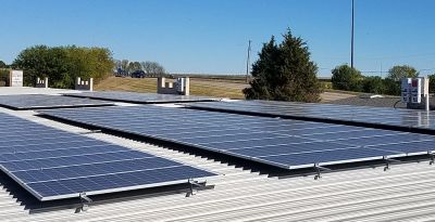 Solar panels at All Stor Fort Knox Storage in Cedar Rapids, Iowa