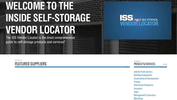 Inside Self-Storage Vendor Locator