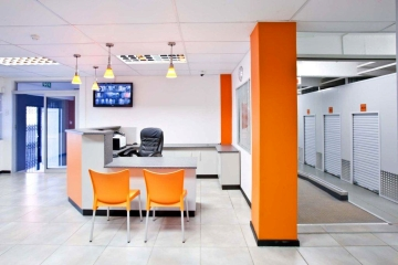 Reception and units at the XtraSpace facility in Durban Central