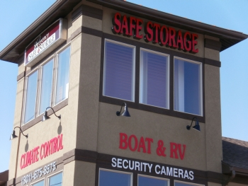 Regency Safe Storage in Roy, Utah, was built with a three-story tower to address poor visibility of the actual units on the property. The tower features false doors behind the windows.