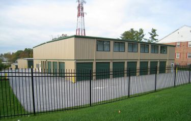 Perfect Self Storage in West Chester, Pa., comprises two-story buildings sheathed in basic ribbed steel with contrasting trim.