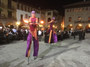 Fire dancers entertained during the FEDESSA Welcome Dinner at Poble Espanyol.
