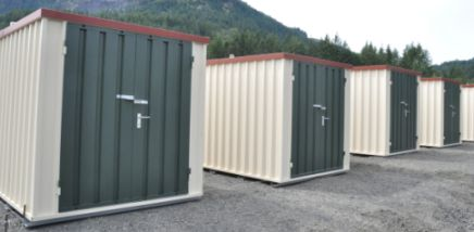 Pak Rat Mini Storage painted its portable containers to match the color of its traditional storage units.