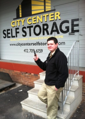 Nick Lackner, general manager of City Center Self Storage in Pittsburgh, uses his iPhone to improve customer service and streamline facility operation.