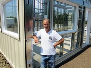 Self-storage owner Marc Goodin outside Caraquet & RV Storage in Caraquet, New Brunswick, Canada.