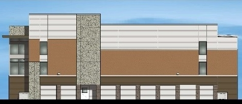Self-storage rendering for Highlands Ranch, Texas.***