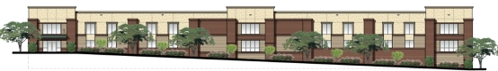 Rendering of self-storage facility planned for Franklin, Tenn., by Atlas Real Estate Partners and The Natchez Group.***