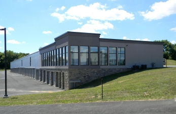 Trindle Self Storage in Carlisle, Pa., takes advantage of the site's elevation change with a two-story structure built into the side of a hill. The facility also includes a UPS Store.