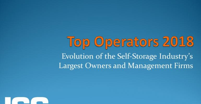 2018 Top-Operators Lists Steady Growth Resonates Among the Self-Storage Industry's Largest Owners and Management Firms