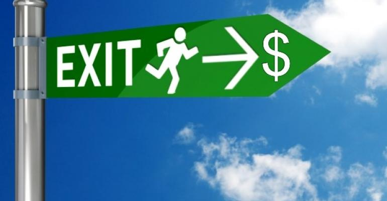 Exit Strategy Sign Money
