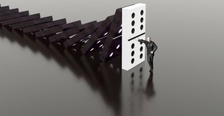 Crisis management dominoes