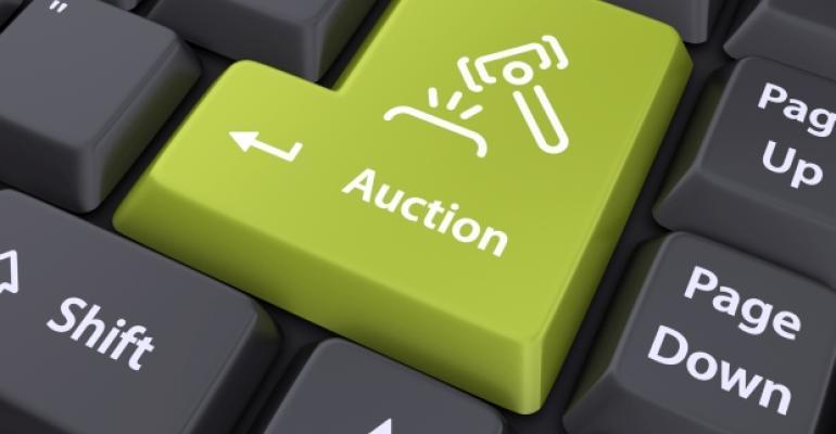 Online Auction Keyboard Key