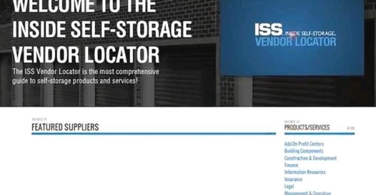 Inside Self-Storage Vendor Locator