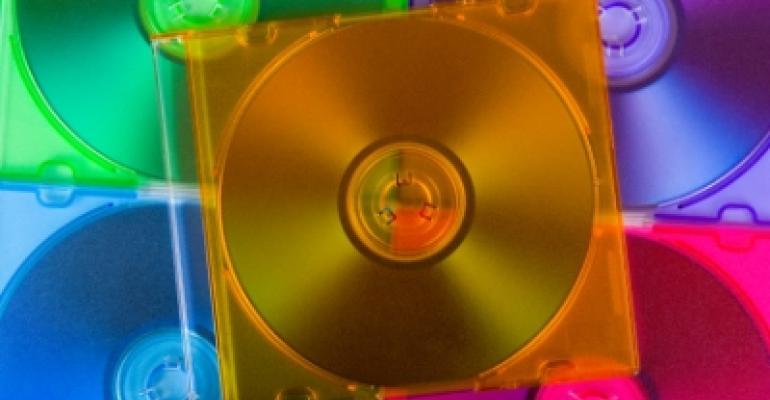 Computer Software Disks Many Colors