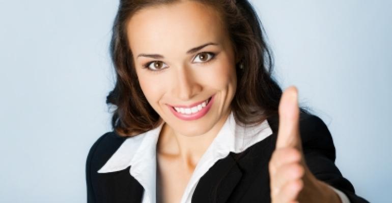 Woman Smile Handshake