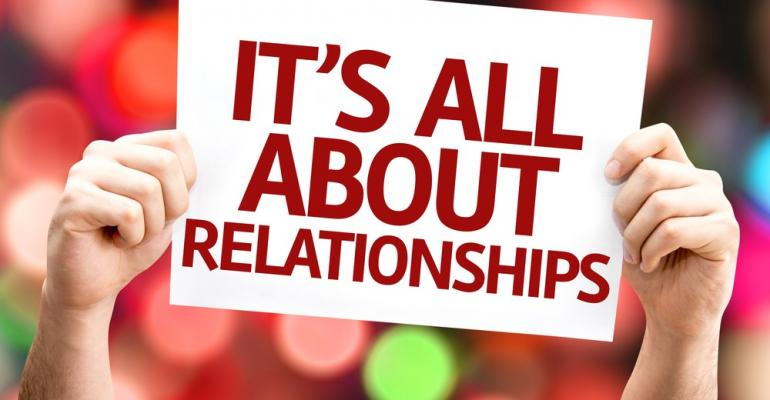 It's All About Relationships Sign