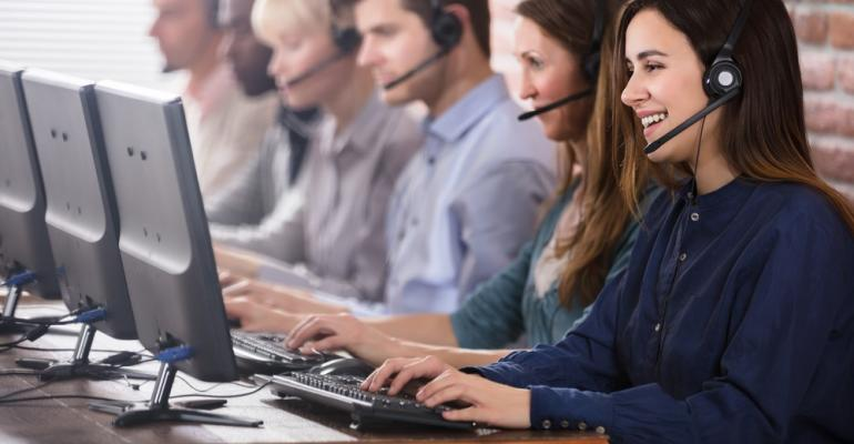 Agents at a self-storage call center