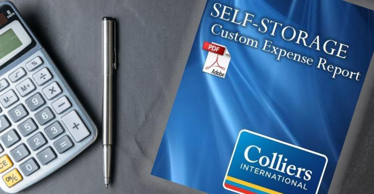ISS Store Featured Product: Self-Storage Custom Expense Report From Colliers International