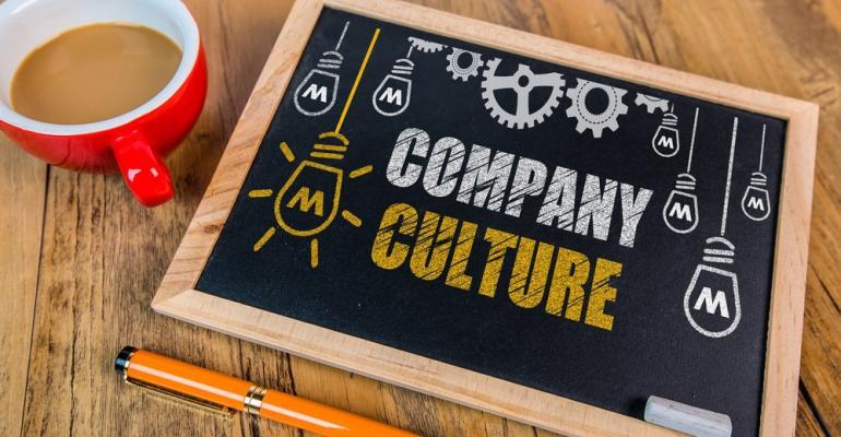 Company culture chalkboard