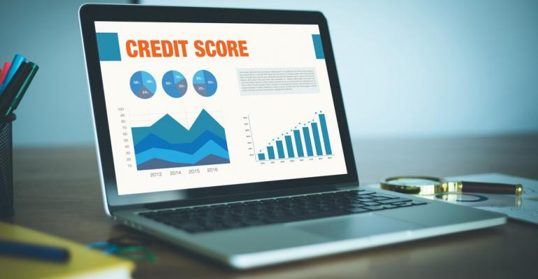 Credit score on computer