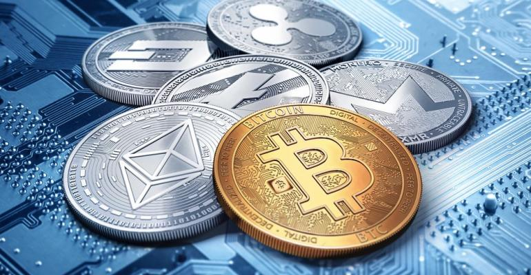Pile of cryptocurrencies