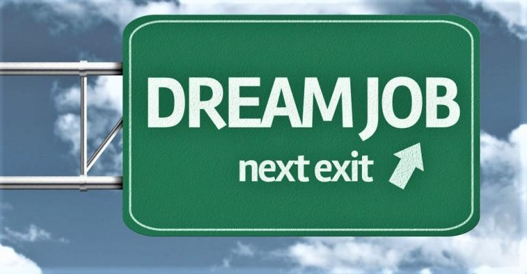 Dream Job Exit Sign