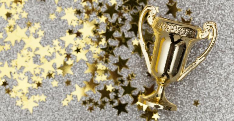 Gold trophy stars