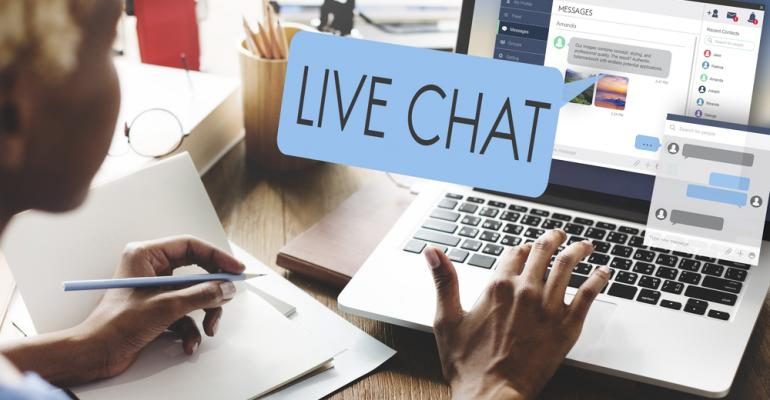 Using online chat