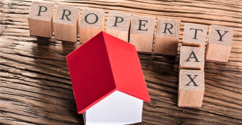 Property taxes concept