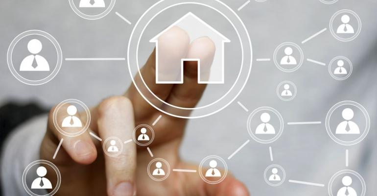 A finger pointing to digital real estate