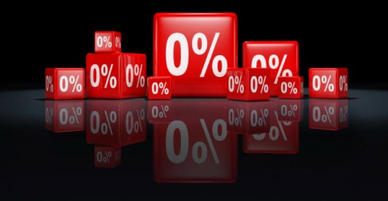 Red percentage cubes