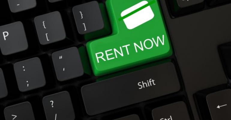 Rent Now on Keyboard Button