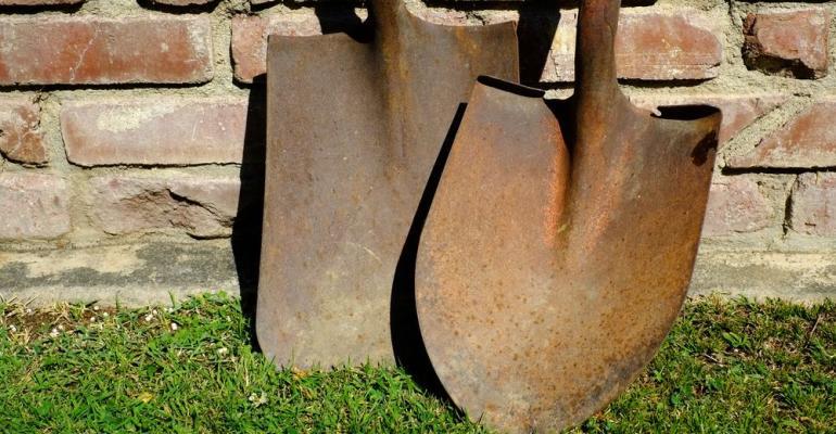 Rusty shovels