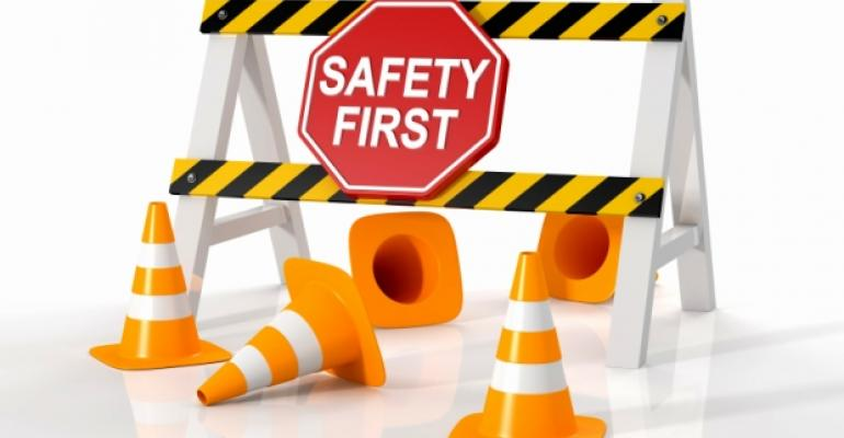 Safety First Road Block Construction Cones