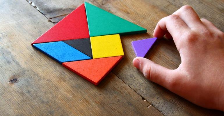 Seven puzzle pieces