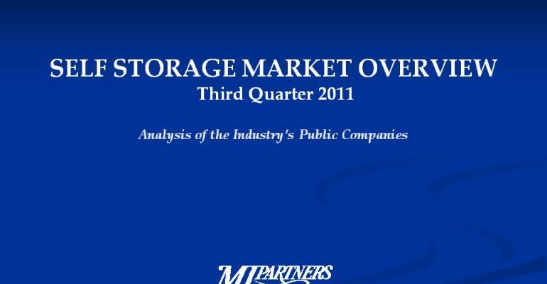 Self-Storage Market Overview Third Quarter 2011
