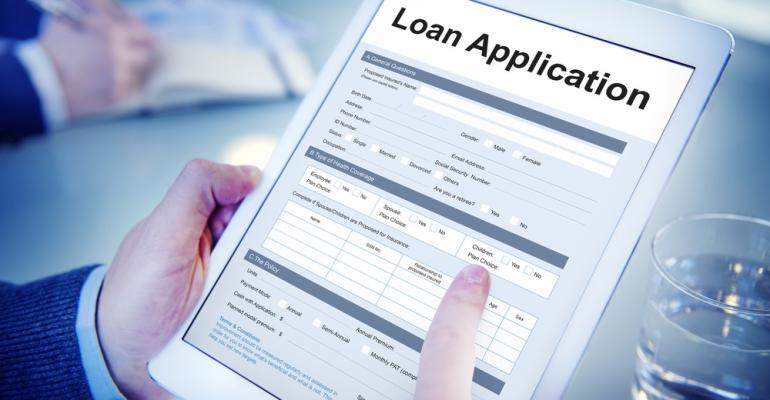 Loan application on tablet